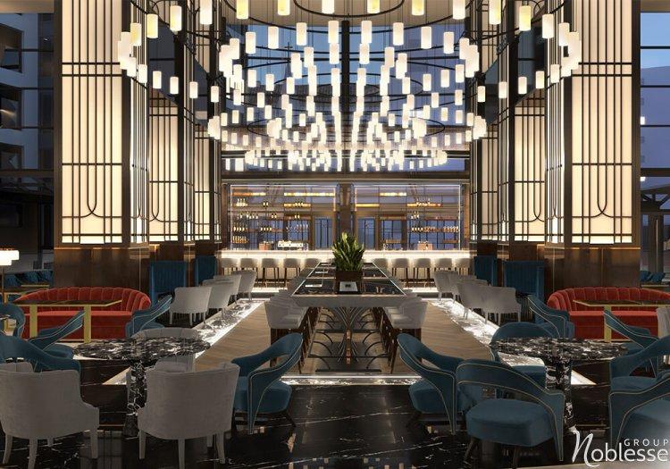 Noblesse Group a creat conceptul noului design interior pentru lobby-ul Radisson Blu Hotel, București