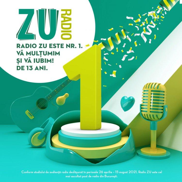 Radio ZU este lider de audiență la nivelul publicului comercial din București cu o medie de peste 130.000 de ascultători uni